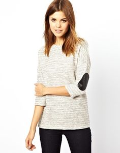 Image 1 ofA Wear Cut And Sew Jumper With Exposed Zip Detail