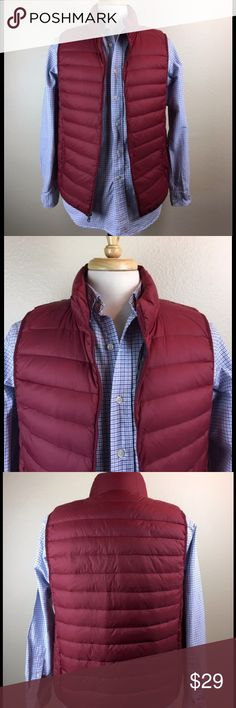 Saddlebred Puffer Vest | Medium | Deep Red Saddlebred Puffer Vest  Men's Medium  Brand New w/o Tags   I am a Sr. Wardrobe Designer for a major studio here in L.A. & have decided to open my closet to the rest of the world. All of the items listed here are from both TV & Film sets that I have designer managed  We typically use the items for 1 scene or several scenes depending on the show or film. Check back often for newly listed items as my inventory constantly changes due to various…
