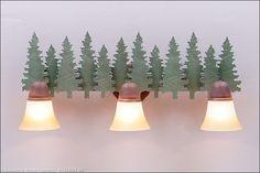 Lakeside Triple Bath Vanity Light - Pine Tree | CampFitters.com