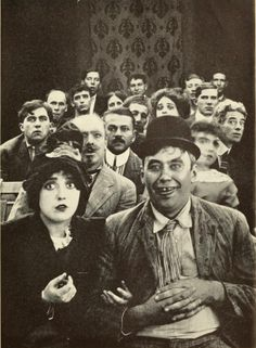 Mabel Normand and Mack Sennett in a Keystone Comedy