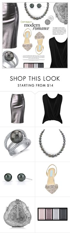"""Modern Romance (Pearls)"" by applesofgoldjewelry ❤ liked on Polyvore featuring Betsey Johnson, From St Xavier, Clé de Peau Beauté, Obsessive Compulsive Cosmetics, Apples of Gold and modern"