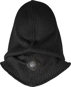Musterbrand Assassin's Creed Hooded Scarf Lancaster Knit Wool Scoodie Black One size Moda Geek, Zombie Apocalypse Outfit, Knit Fashion, Mens Fashion, Crochet Hooded Scarf, Nerd Crafts, Swag Outfits Men, Tactical Clothing, Wrap Pattern