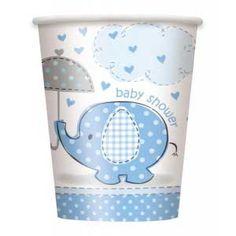 Umbrellaphants Blue - 9oz Hot/Cold Cup