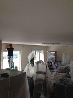 Abdeckarbeit Wohnzimmer