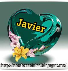 Muñequitas con Nombres: Corazón verde con Nombres javier