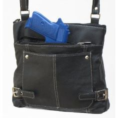 Concealed Carry Purse - Lightweight Cross-Body Concealed Carry Purse - Black
