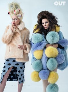Joanna Lumley and Jennifer Saunders by Tim Walker for Out Magazine.