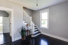 Splendid Best Wall Color With Walnut Floors And Espresso Furniture Photos - - Diy Wood Floors, Walnut Floors, Real Wood Floors, Hardwood Floors, Revere Pewter Bedroom, Best Wall Colors, Hardwood Floor Colors, Light Grey Walls, Gray Walls