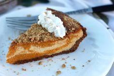 Marble Pumpkin Cheesecake with Cacique Ranchero Queso Fresco Pumpkin Cheesecake, Cheesecake Recipes, Pie Recipes, Fall Recipes, Sweet Recipes, Holiday Recipes, Marble Cheesecake, Recipies, Snack Recipes