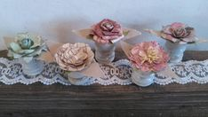 Rustic Flower Table Decorations Shabby Chic by ColorTheWorldArt