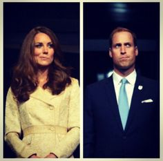 I'd love to know the backstory here, cause it totally looks like they're doing the Mikayla Maroney.  Will and Kate... Funny faces ;)
