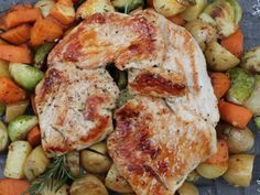 Easy Skillet Turkey Dinner All the flavors of a thanksgiving meal from turkey to roast vegetables to gravy, made in a single skillet.