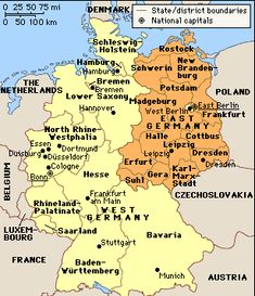 i visited much of west germany when germany was still divided into 2 different countries
