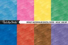 Watercolor Digital Paper Textures ~ Textures on Creative Market