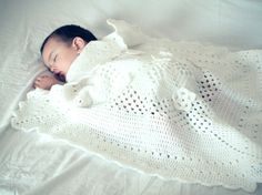 sweet dreams baby blanket - white crochet blanket throw