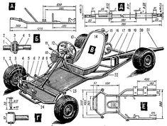 ru mk_other okb_mk Build A Go Kart, Diy Go Kart, Fusca Cross, Go Kart Chassis, Go Kart Designs, Homemade Go Kart, Go Kart Parts, Kids Atv, Velo Cargo