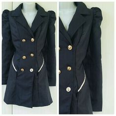 Navy Blue Vintage Style Military Jacket Modcloth Worn once. Pockets. Very vintage feel. ModCloth Jackets & Coats