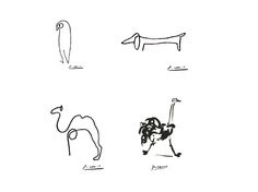 Picasso one line drawings