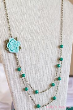 Sea Foam Green Necklace by EdasDesign
