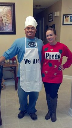 Halloween costume to announce you are pregnant to your friends!
