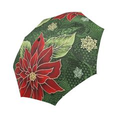 Elegant & traditional Christmas poinsettia design in a large bold print. Christmas Poinsettia, Elegant Christmas, Bold Prints, Christmas Traditions, Umbrellas, I Shop, Traditional, Unique, Model