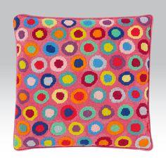 Bright Rings - Ehrman Tapestry by Kaffe Fassett Needlepoint Designs, Needlepoint Pillows, Needlepoint Stitches, Needlepoint Kits, Needlepoint Canvases, Diy Embroidery, Cross Stitch Embroidery, Cross Stitch Designs, Cross Stitch Patterns