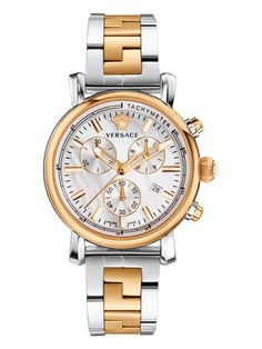 Day Glam Women's Mother of Pearl IP Bracelet Watch, 38mm by Versace Watches at Gilt