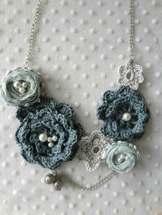 Winter Roses Necklace Pattern - Mori inspired
