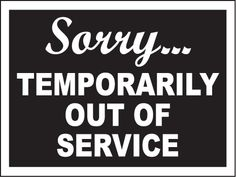 out of service Signs | Temporarily Out Of Service Sign - R5336. Restroom Door Signs by ...