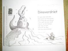 Dinoverdriet (mooi versje!) *liestr* Dinosaurs Preschool, School Songs, Ppr, Lessons For Kids, Monsters, Arts And Crafts, Artwork, Museum, Dinosaurs