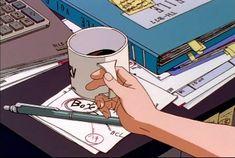 Aesthetic Japan, Aesthetic Anime, Aesthetic Art, Aesthetic Pictures, Anime Coffee, Arte Fashion, Ghibli Movies, Cute Anime Pics, Anime Scenery