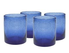 Artland Iris Double Old Fashioned Glasses, Cobalt Blue, Set of 4