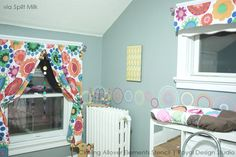 Use the Circling Allover Elements Stencil to add pattern and fun design to a kid's room or nursery