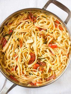 One Pot Pasta für den Urlaub - perfekt für die kleine Küche im Ferienhaus
