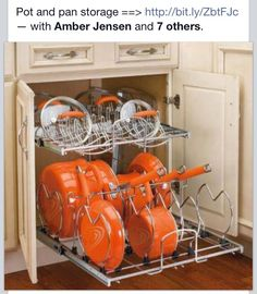 Storage for pots and pans
