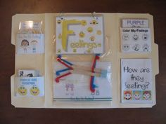 A feelings lap-book. An interactive way for kids to express themselves. (one for my office for individuals...and a great project for small group)