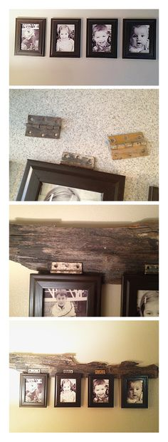 Before, these cuties simply hung there, it was fine but I love to add character to things. I purchased some salvaged hinges on eBay, I knew I'd find a use for them. The wood came from a Lake in Idaho I spent time on this summer. Just love the way the different textures add so much to this.