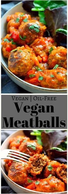 These vegan meatballs are made with from-scratch seitan using vital wheat gluten. They're quick and easy to prepare and are baked for a super-healthy and versatile vegan meatball!