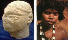The Dravidian Race Left, head of a Black Man from Mohenjo-daro; right, Panya woman in South India.  The Dravidian race consists predominantly of south Indians. They are characterized by their dark complexion, large foreheads and dark hair and eyes. According to experts, this race arrived in India around 3000 B C.  Dravidians are believed to be of African origin. Similarities between their complexion, forehead structure and bone structure support this claim.