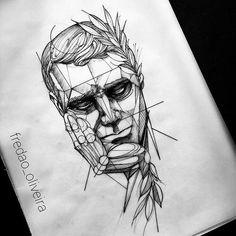 Lion Chest Tattoo Designs For Men by Tattoo Artist Alexei Mikhailov Tattoo . - Lion Chest Tattoo Designs for Men by T Tattoo Sketches, Drawing Sketches, Tattoo Drawings, Art Drawings, Samourai Tattoo, Minimalist Bullet Journal, Stylo Art, Line Artist, Catrina Tattoo