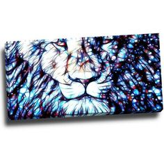 Design Art Leader of the Pack, Lion Art on Canvas, 32 inch x 16 inch, Size: Medium 25 inch-32 inch, Multicolor