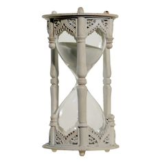"Decorative Hourglass White (6""x3"") - Vip Home & Garden"