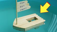 How to Make a Boat with Popsicle Sticks and Rubber Band - DIY Craft - Ha...