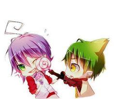 Chibi Mephisto and Amaimon