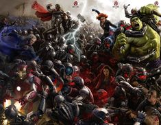 Avengers: Age of Ultron concept art HQ poster by Ryan Mienerding. Epic.
