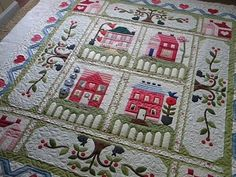 beautiful! Traditional quilt with modern flair..