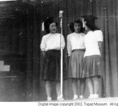 Senior assembly, 1945 :: Topaz Museum