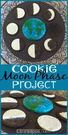 Super fun and yummy project for kids studying all about the moon. #Homeschooling #education