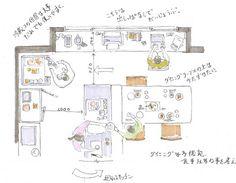 木のキッチン - 埼玉 川越市 設計事務所 住まいの間取り
