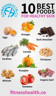 Best Foods For Skin, Foods For Healthy Skin, Good Foods To Eat, Healthy Tips, Healthy Eating, Healthy Recipes, Food Good For Skin, Foods That Heal, Health Diet